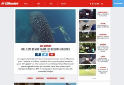 미모의 프리다이버女, 18m 육박하는 고래상어와 함께 수영을?