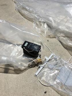 부산 해운대 해수욕장서<br>'폭발물 의심' 삐라 풍선 발견