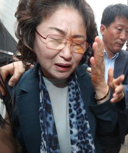 김태현 화해·치유 재단 이사장, <br>캡사이신 맞고 병원행