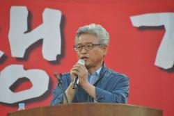 `사드 찬성` 이철우, <br>지역구 김천서 쫓겨나듯 퇴장