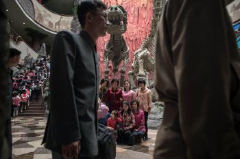 북한 중앙동물원의 포토존?