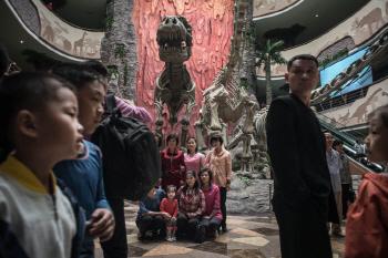 북한 중앙동물원의 내부 모습