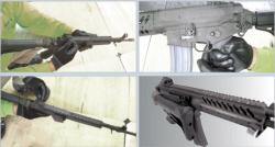 맨손으론 못잡는 113만원짜리 신형소총,<br> 손잡이 달아 재보급