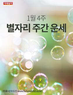 [카드뉴스] 1월 4주 별자리 주간 운세