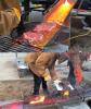 `1148℃ 초고온 용암`으로 구운 색다른 소고기 스테이크 화제