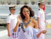 [포토]'미스 유니버스' 필리핀 해군본부 방문 '밝은 미소'