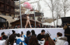 레바논 비키니 패션쇼, `하얀 눈 위에서`