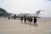[포토] 北고려항공 승무원들, 중국인들 맞이