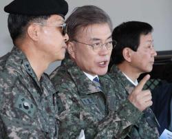 하루종일 '안보행보'…문재인, 안보관 논란 정면돌파(종합)