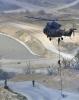 [포토] 수리온 헬기에서 하강 진입하는 특공대원들