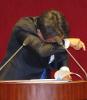 강기정, 文대통령 5·18 기념사에 연신 눈물..필리버스터의 `임을 위한 행진곡`