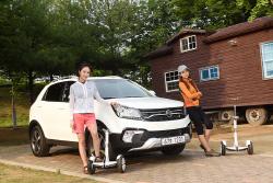레이싱 모델 유다연과 선우의 오토캠핑, 그리고 쌍용 뉴 스타일 코란도 C...
