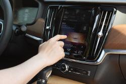 [포토] 우수한 만족감을 선사하는 볼보 S90 D4의 디스플레이 패널