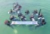 [포토] 바닷속 정화활동하는 '위 세이브 투게더' 캠페인