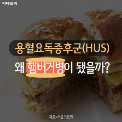 용혈요독증후군(HUS)은 왜 '햄버거병'이 됐나