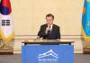 [文 100일 회견]'北 고강도 압박·제재 불구 평화적 해결이 국제 합의'