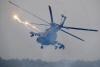 미사일 발사하는 러시아 Mi-8 헬기