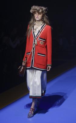 [포토]'밀라노 패션위크' 구찌, 복고 패션