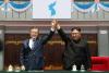 文대통령·김정은, 오전 10시 20분경 백두산 천지 도착…남북정상 내외 산보(상보)