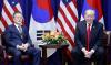 """文대통령·트럼프 """"대북제재 지속…北 비핵화시 밝은 미래 보여줄 것"""""""