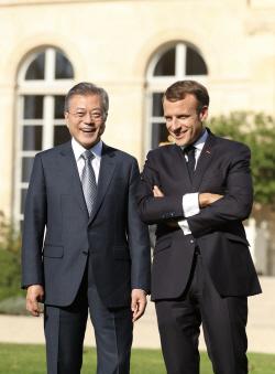 [전문] 한·프랑스 정상회담 공동선언, '한반도 비핵화 평화적 달성' 협력