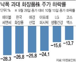 '낙폭 과대' 화장품株, 반등 시도하나..종목별 차별화 전망(종합)