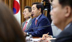 """김성태 """"文정부, 국제사회와 담쌓고 남북 철도·도로 연결"""""""
