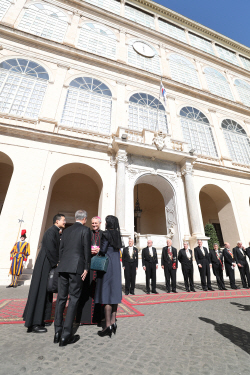 文대통령, 프란치스코 교황 예방