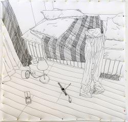 [e갤러리] 한땀 한땀 재봉틀로 박은 그림…유소라 '보통이 된 날'