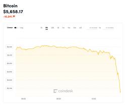 비트코인 가격 5660달러대로 추락…1년만에 최저수준