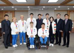 염태영 수원시장, 장애인아시안게임 선수 초청 격려