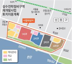 '한강변 50층' 성수동 재개발 착착..집값 3.3㎡=4천만원
