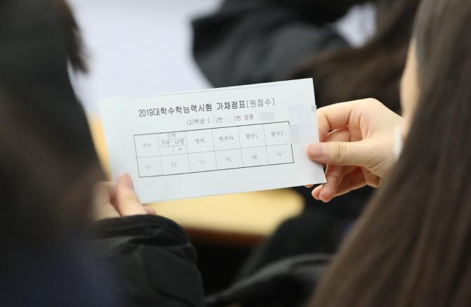 '불수능'에 예상 합격선도 줄 하락…서울대 경영 295점→287점