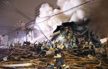 일본 삿포로 식당 폭발 사고