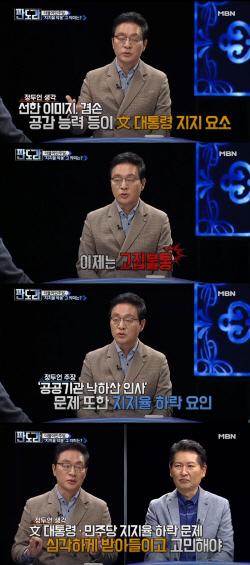 """정두언, 민주당 지지율 하락 """"文대통령 이미지, 공감→고집불통"""""""