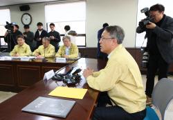 [포토]대성고 사고 관련 대책회의, 서울시교육청에서 열려