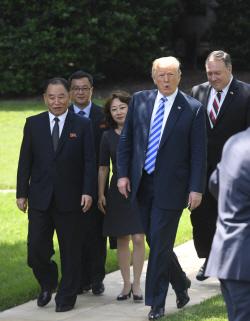 김영철, 18일 폼페이오 만난다…제2차 북미회담 '초읽기'