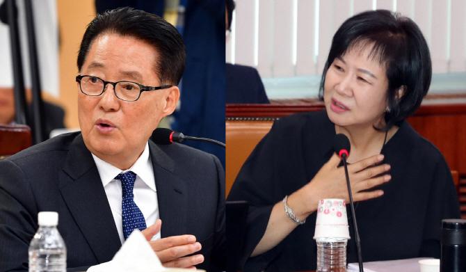 """""""손혜원에게 모두 속았다"""" vs """"박지원, 검찰조사 같이 받자"""""""