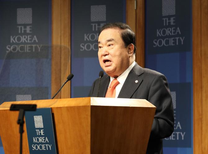 """文의장 """"美의회, 北비핵화에 희망적으로 바뀌어"""""""