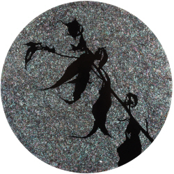 [e갤러리] '황폐·찬란' 그들의 마지막 제스처…문이원 '검은 춤-1803an'