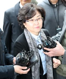 [포토]`환경부 블랙리스트 개입의혹` 김은경 前 장관, 영장심사 출석
