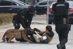 [포토] 테러범 제압하는 공격견