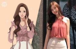 """'여신강림' 야옹이 작가 얼굴 공개...""""주인공, 거울보고 그렸나"""""""