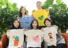 KB증권, 기후난민 어린이에게 티셔츠 전달
