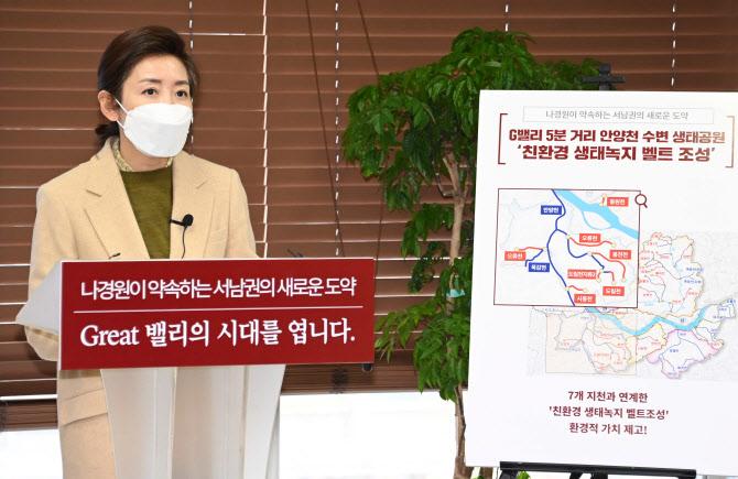 [포토]가산디지털단지 찾은 나경원 국민의힘 서울시장 예비후보