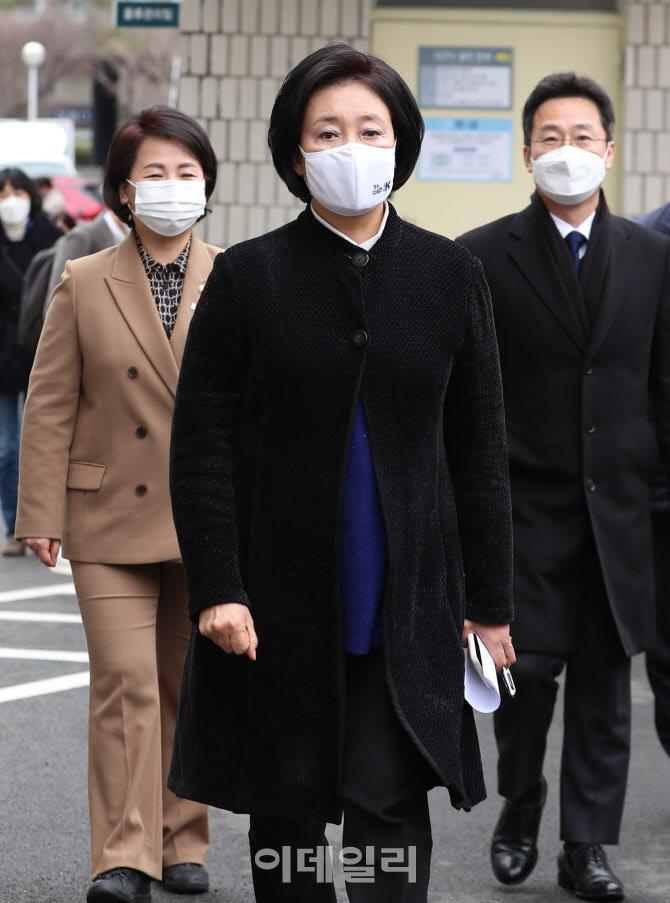 [포토]중앙의료원 찾은 박영선 민주당 서울시장 후보