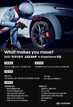현대차, 글로벌·아세안 H-Experience 인턴 모집…'30일까지 접수'