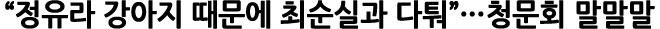 """""""정유라 강아지 때문에 최순실과 다퉈""""…청문회 말말말"""