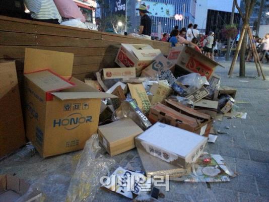 [브라질2014]패배에 난장판 된 거리응원...쓰레기 무단투기 홍역