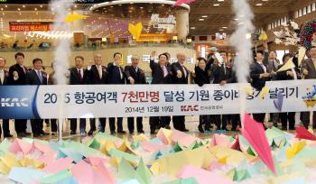 한국공항공사, 공항 연이용객 6000만 돌파 축하 기념식